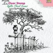 NS: Clear Stamp; IFS - Tree with fence