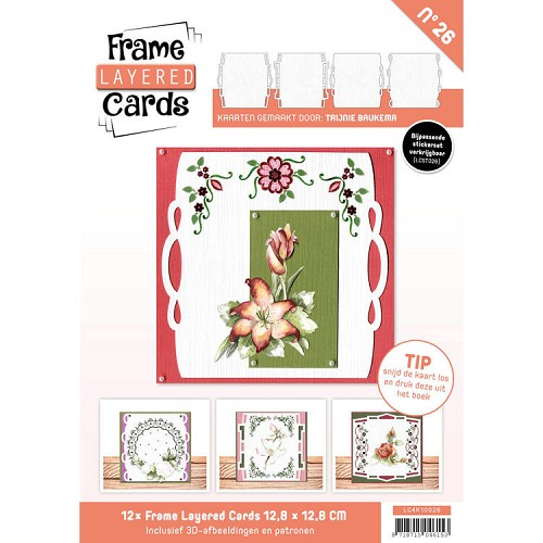 Frame Layered Cards 26; Vierkant - HOBBYDOTS