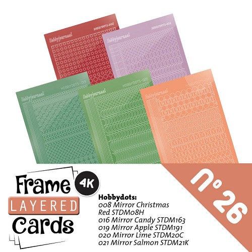 Frame Layered Cards 26; STICKERSET