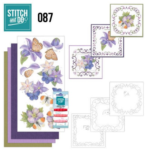 Stitch and Do: 87 - Purple Flowers