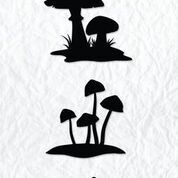 NS: Clearstamp; Silhouette - Mushrooms