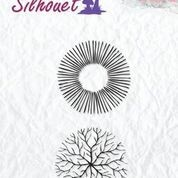 NS: Clearstamp; Silhouette - Flowers 17