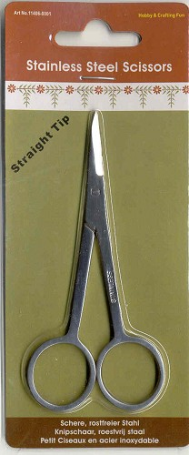 H&C: Stainless Steel Scissors; Straight Tip