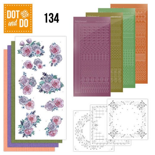 Dot and Do 134; Purple Flowers