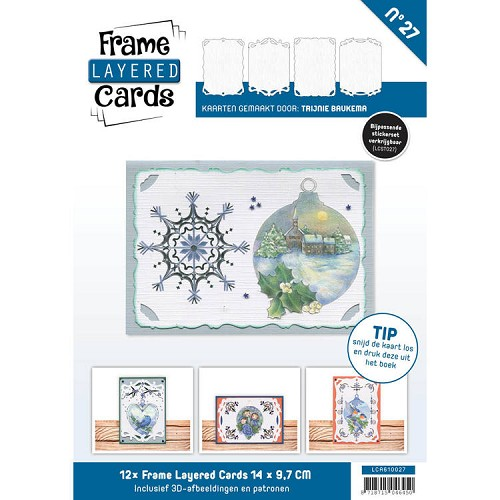 Frame Layered Cards 27 - A6 - HOBBYDOTS