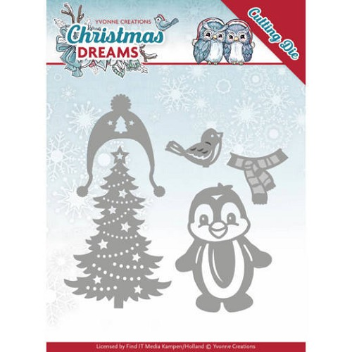 Yvonne Creations: Christmas Dreams; Dies - Christmas Penguin