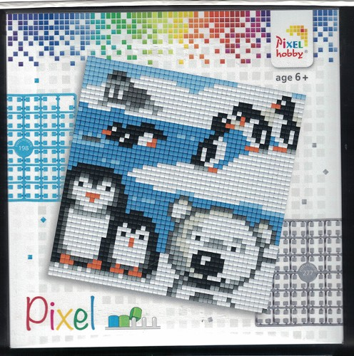 Pixel hobby: Set 4 kleine basisplaten; POOLDIEREN