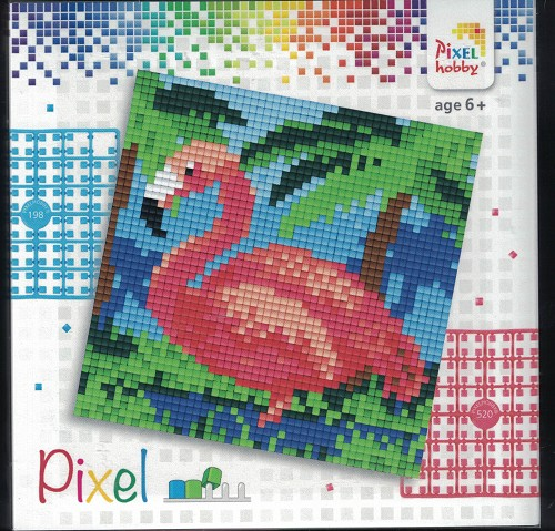 Pixel hobby: Set 4 kleine basisplaten; FLAMINGO