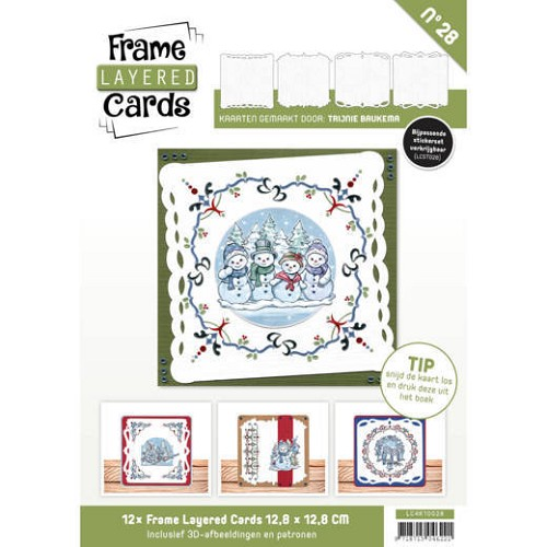 Frame Layered Cards 28 - VIERKANT- HOBBYDOTS
