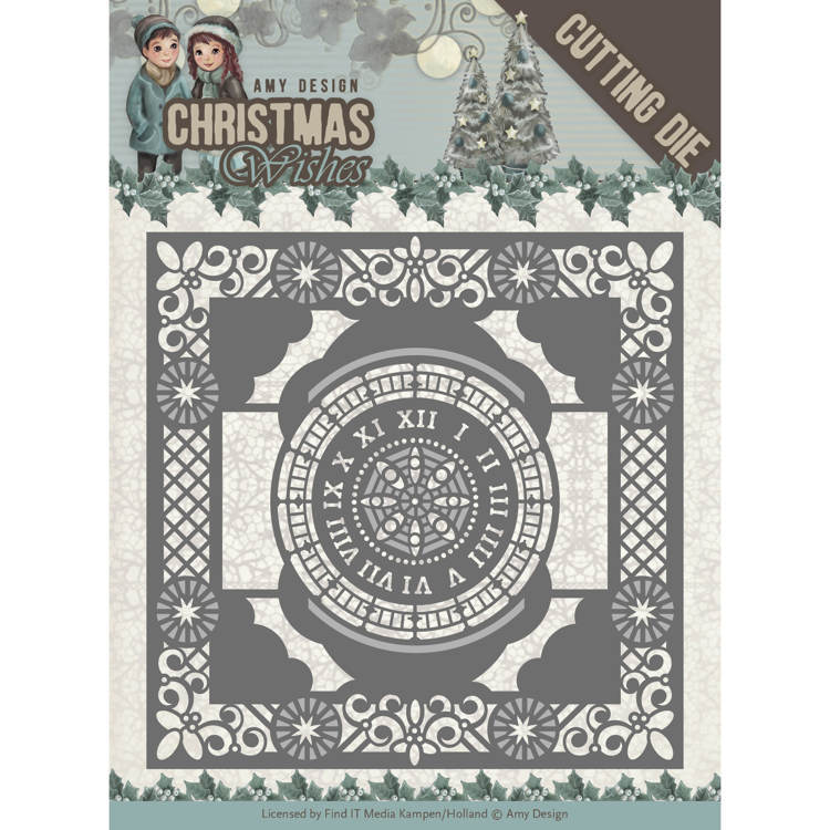 Amy Design: Christmas Wishes - Die - Twelve o´clock Frame