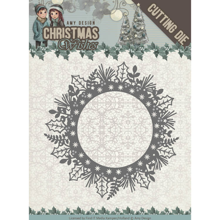 Amy Design: Christmas Wishes - Die - Holly Wreath
