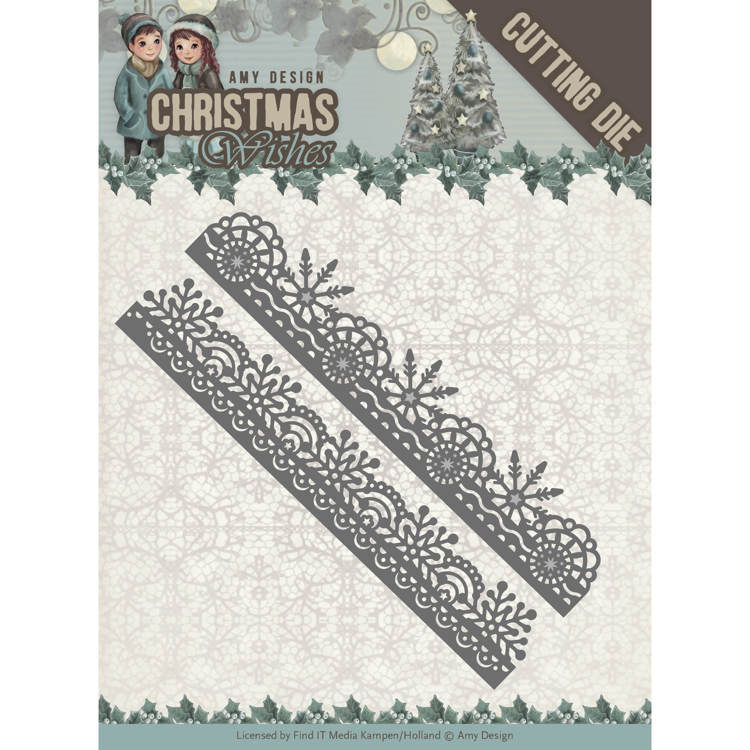 Amy Design: Christmas Wishes - Die - Snowflake Border