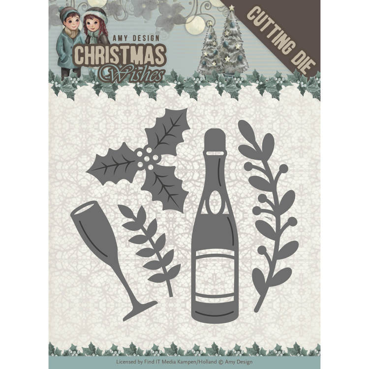 Amy Design: Christmas Wishes - Die - Champagne