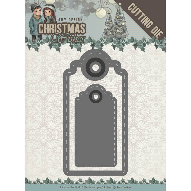 Amy Design: Christmas Wishes - Die - Wishing Labels