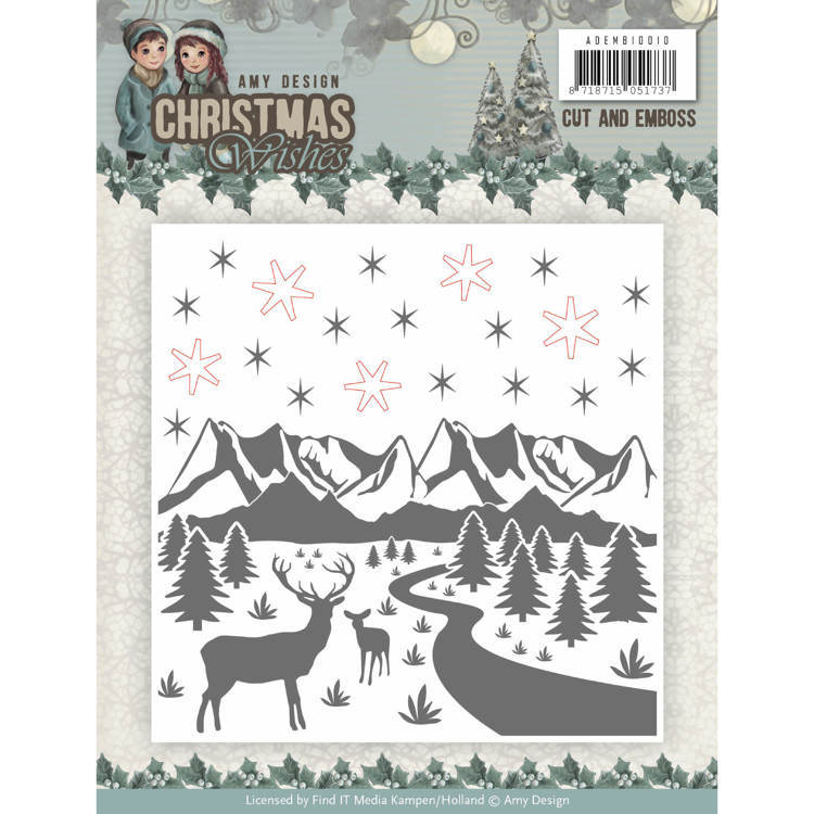 Amy Design: Christmas Wishes - Cut and Emboss folder