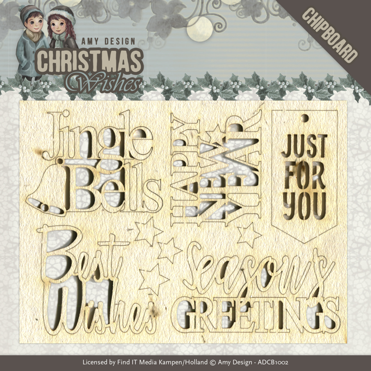 Amy Design: Christmas Wishes - Chipboard Tekst
