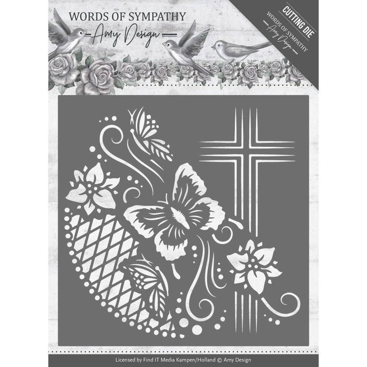Amy Design: Words of Sympathy: Die - Cross Frame