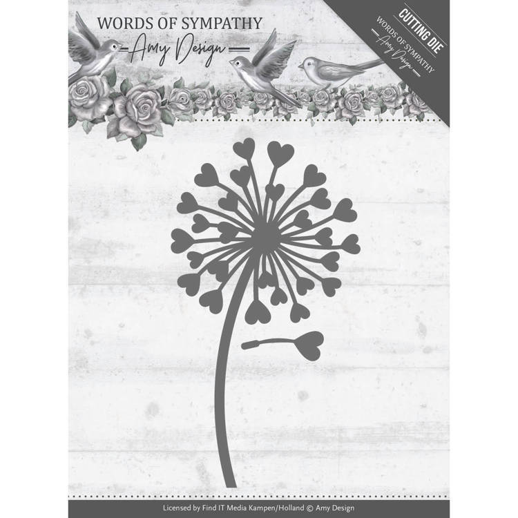 Amy Design: Words of Sympathy: Die - Symphaty Flower