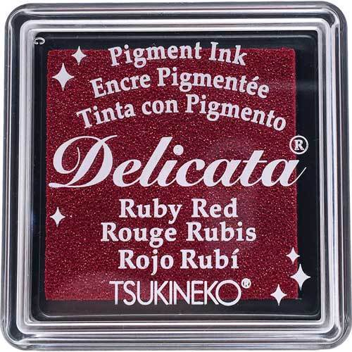 Delicata Inkpad SMALL: Ruby Red