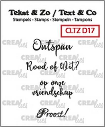 Crealies Clearstamp; Wijn A