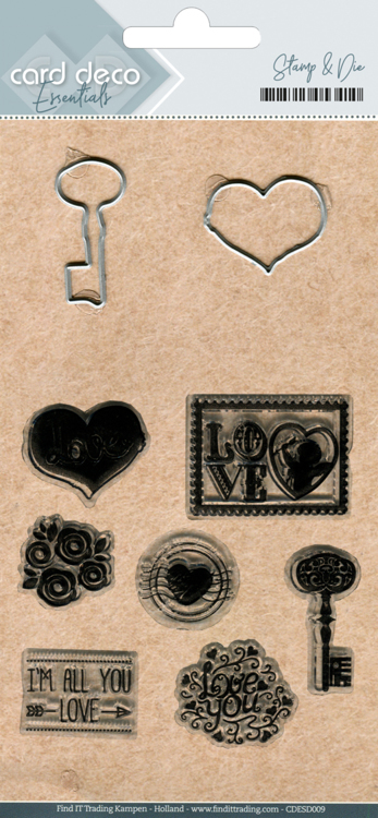 CD Essentials: Clear stamps & Cutting Die