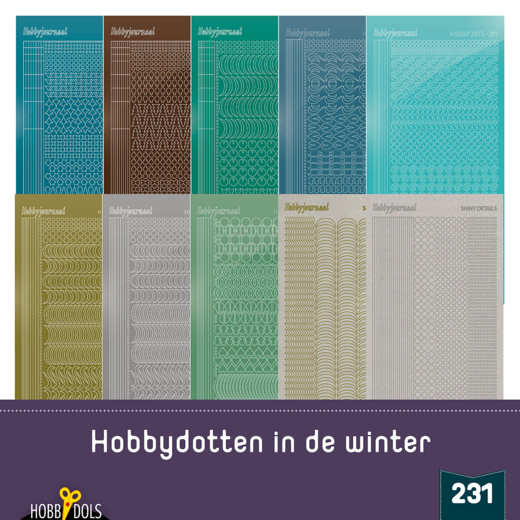 Hobbydols 231 - Stickerset