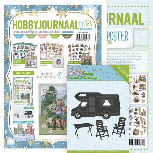 Hobbyjournaal 166 met poster the best of 2018 en die 2527.Y160