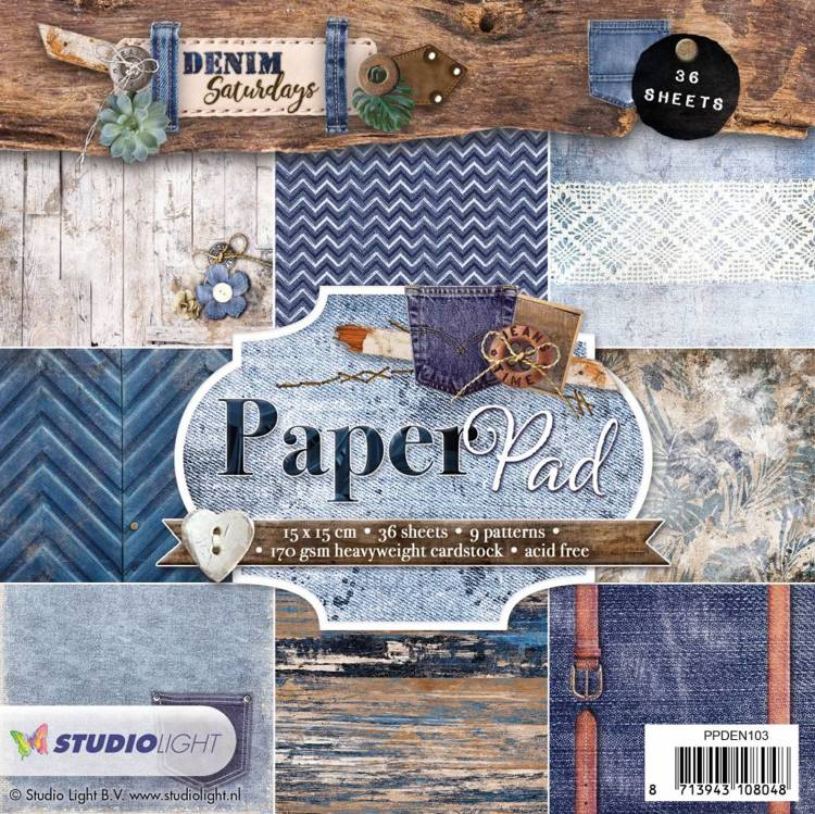 SL: Paperpad 15x15  Denim Saturdays 103