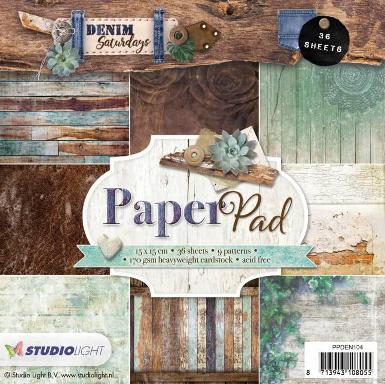 SL: Paperpad 15x15  Denim Saturdays 104