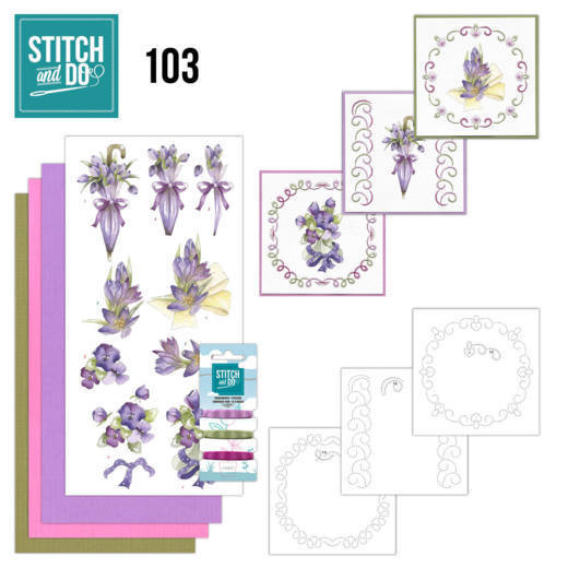 Stitch and Do 103: Flowers in Purple