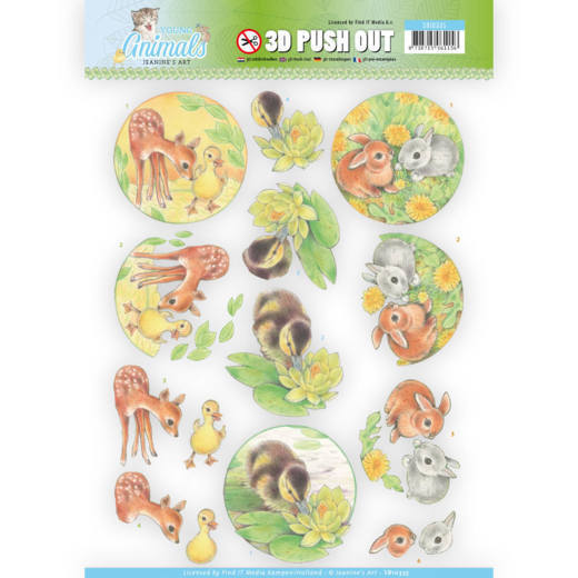 CD: Jeanine; Young Animals, 3D Push Out - Ducklings and Rabbits