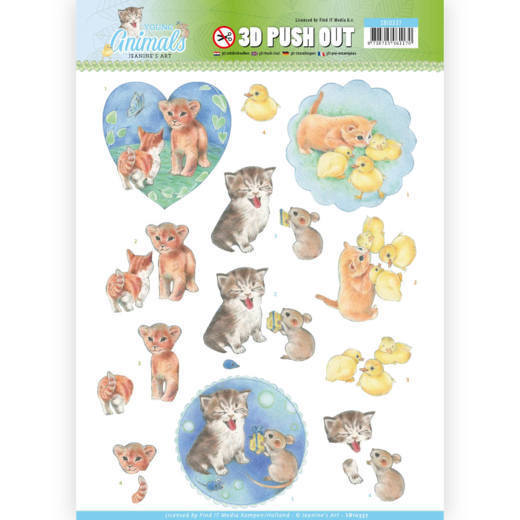 CD: Jeanine; Young Animals, 3D Push Out - Kittens