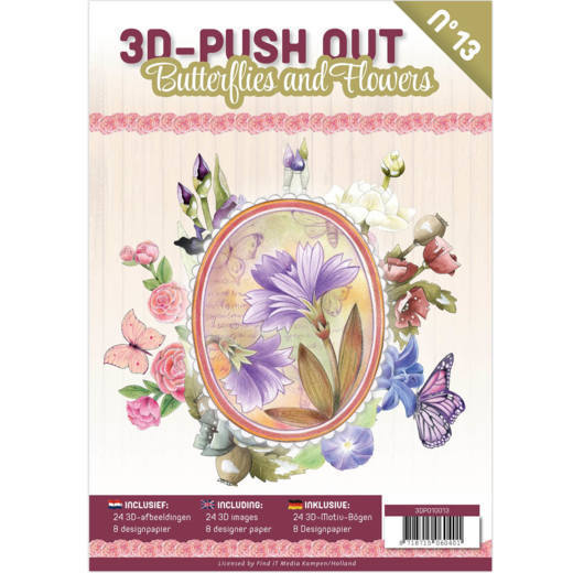 3D Push Outbook 13: Butterflies and Flowers