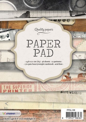 SL: Paperpads A5 - 170 grams - 36 vel - 12 designs