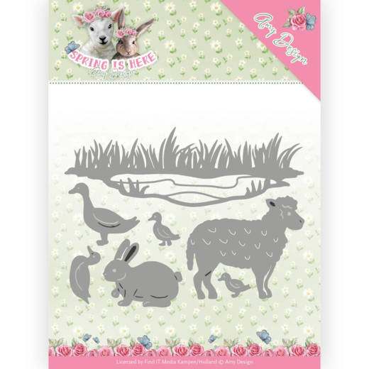 Amy Design: Spring is Here; Die - Spring Animals