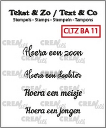 Crealies: Clearstamp Tekst&Zo - Baby 11