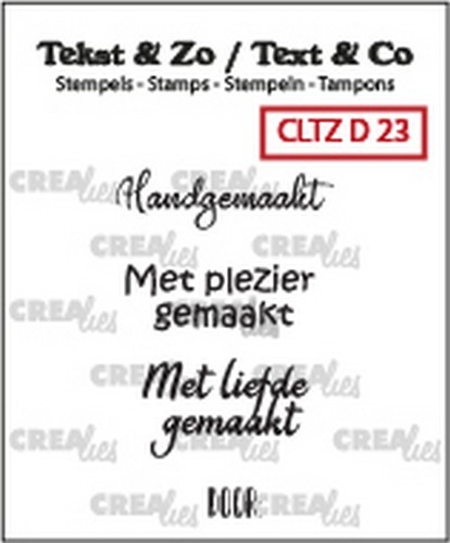 Crealies: Clearstamp Tekst&Zo - Divers 23