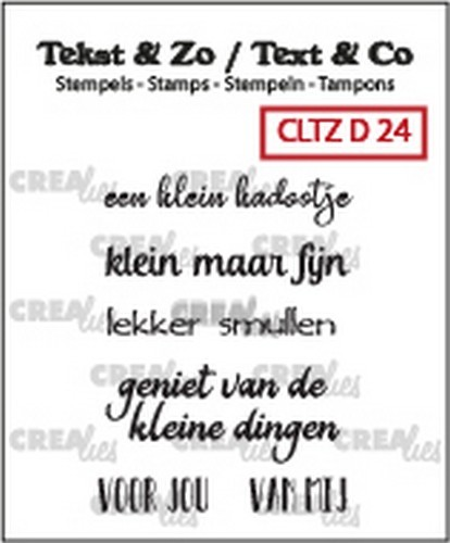 Crealies: Clearstamp Tekst&Zo - Divers 24