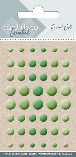 Carddeco Essentials: Enamel Dots - Apple Green