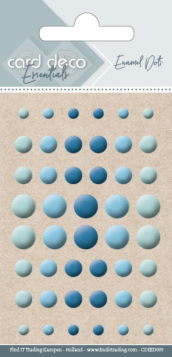Carddeco Essentials: Enamel Dots - Blue