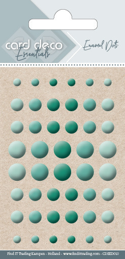 Carddeco Essentials: Enamel Dots - Green