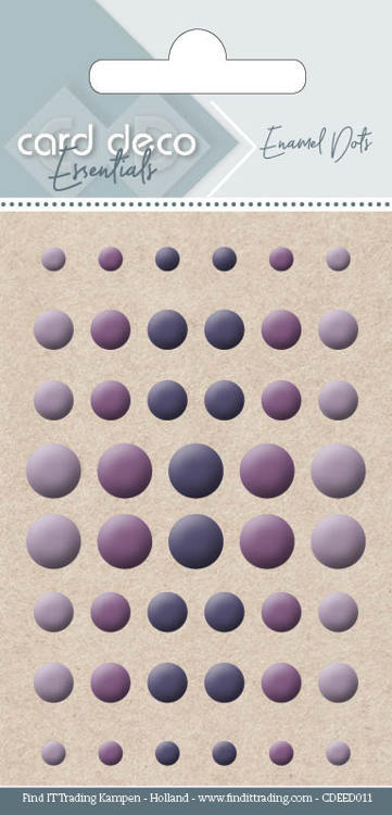 Carddeco Essentials: Enamel Dots - Purple