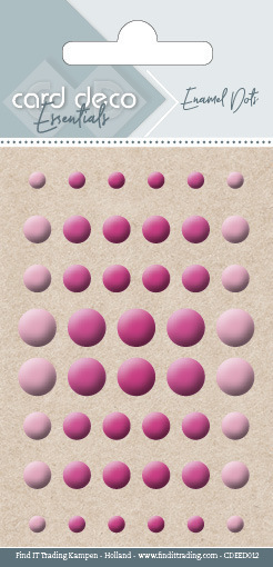 Carddeco Essentials: Enamel Dots - Bright Pink