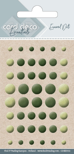 Carddeco Essentials: Enamel Dots - Pearl Yellow Green