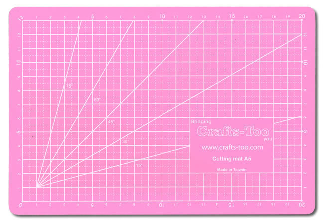 Crafts Too: Snijmat - 5 layer PVC self healing cutting mat. - A5