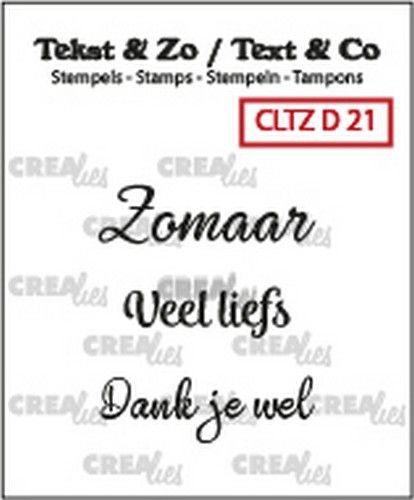 Crealies: Clearstamp Tekst&Zo - Divers 21