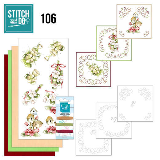 Stitch and Do 106; Pink Spring Flowers
