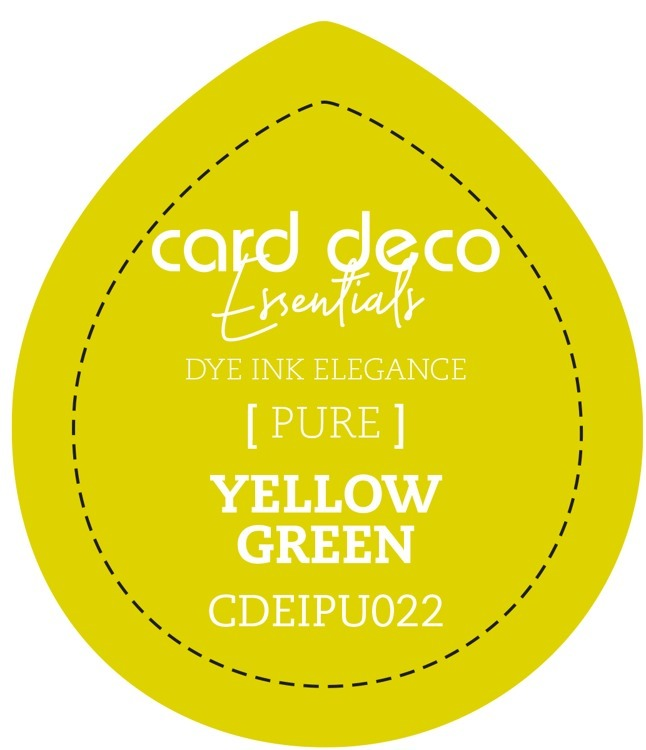 Card Deco Essentials; Fade-Resistant Dye Ink - YELLOW GREEN