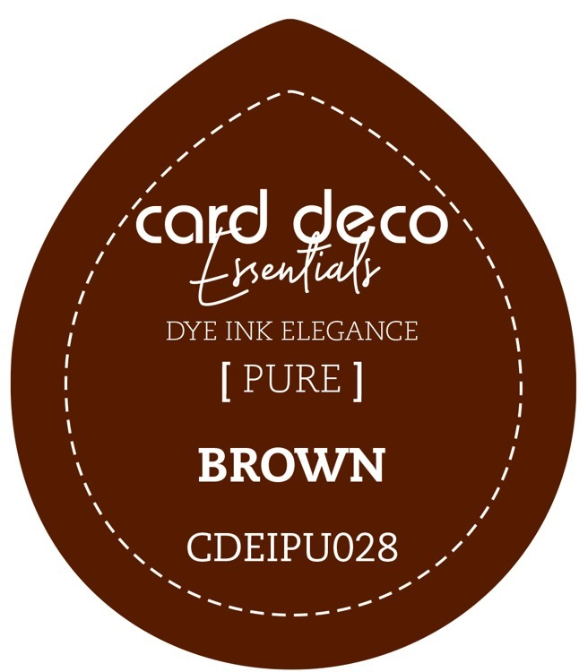 Card Deco Essentials; Fade-Resistant Dye Ink - BROWN