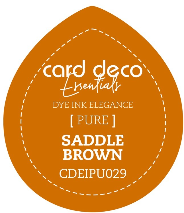 Card Deco Essentials; Fade-Resistant Dye Ink - SADDLE BROWN